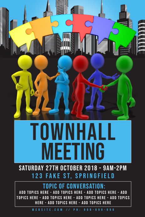 Town Hall Meeting Poster