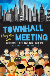 Town Hall Meeting Poster template