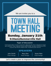 Town Hall Meeting Flyer template