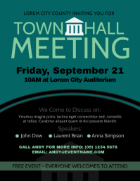Town Hall Meeting Flyer
