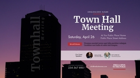 Town Hall Meeting Twitter Post template