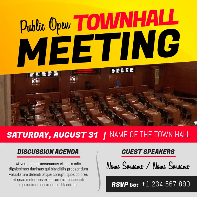 Townhall Meeting Announcement Instagram Video