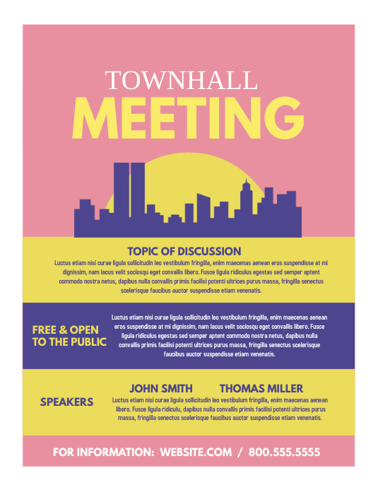 townhall meeting template postermywall