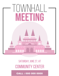 TOWNHALL MEETING EVENT ad FLYER TEMPLATE