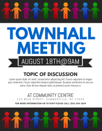 260 customizable design templates for townhall meeting postermywall