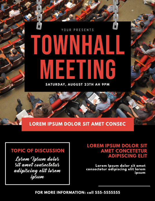 Townhall Meeting Flyer Template