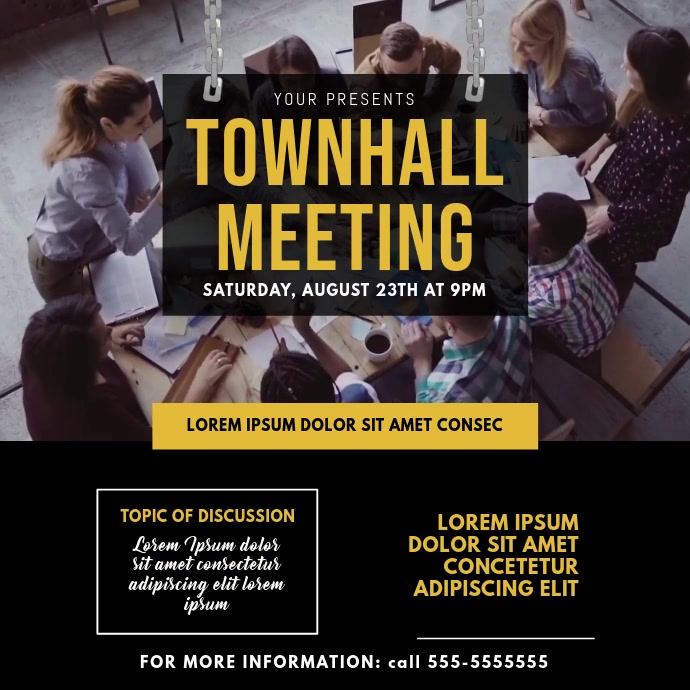 Townhall Meeting Video Template Kvadrat (1:1)