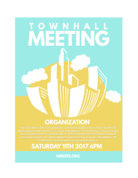 50 customizable design templates for townhall postermywall