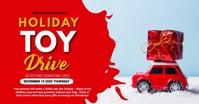 Toy drive,Christmas, Christmas sale,event Imagem partilhada do Facebook template