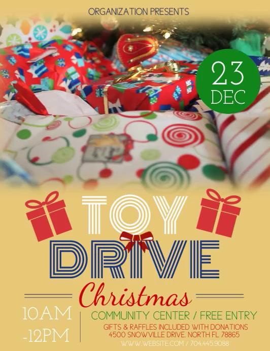 Toy Drive 传单(美国信函) template