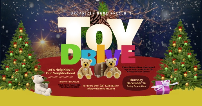 Toy Drive Facebook Shared Image template