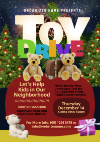 Toy Drive Flyer A4 template