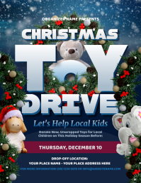 Toy Drive Flyer Pamflet (Letter AS) template