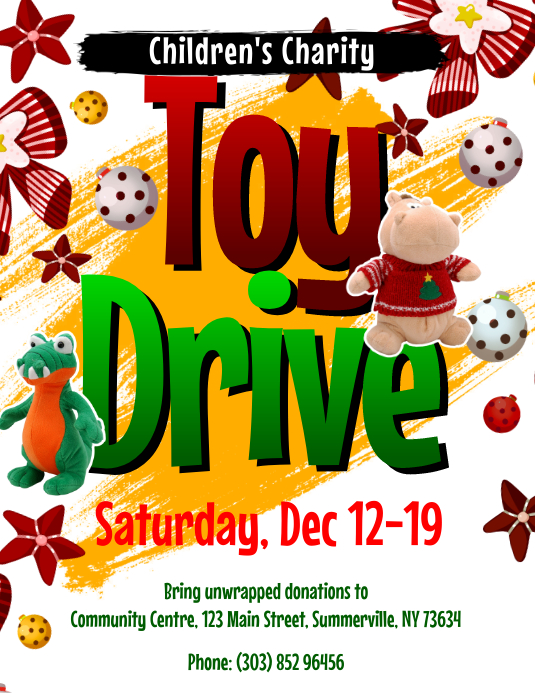 Customizable Design Templates For Toy Drive Postermywall
