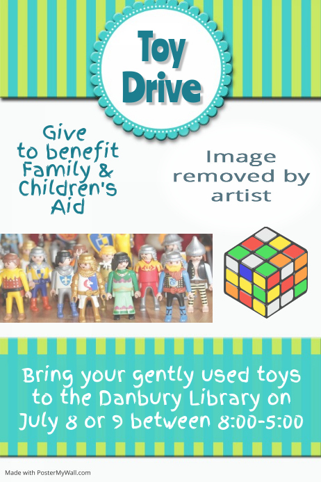 Toy Drive Food Drive Fundraiser Small Business Event Flyer