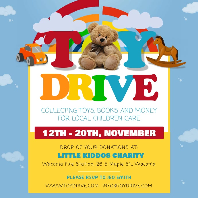 Toy Drive Fundraising Square Video