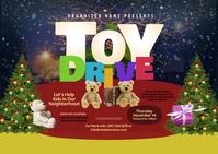 Toy Drive Postcard ไปรษณียบัตร template