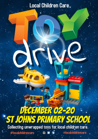 Toy Drive Poster A4 template