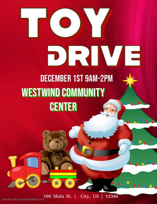 Toy Drive Template | PosterMyWall