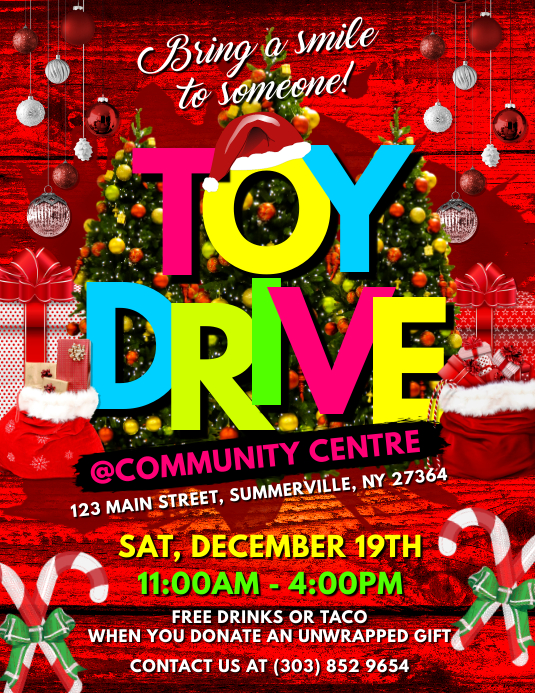 Toy Drive Flyer Template Yeniscale