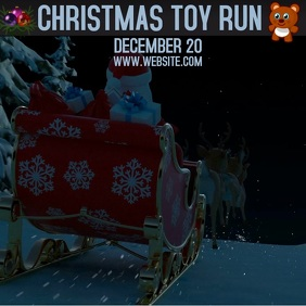 TOY RUN ad digital video template