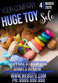Toy Sale A5 template