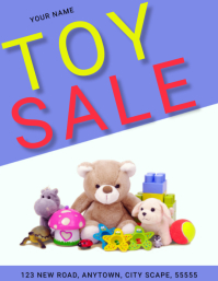 TOY SALE TOY DRIVE AD FLYER Template Pamflet (Letter AS)