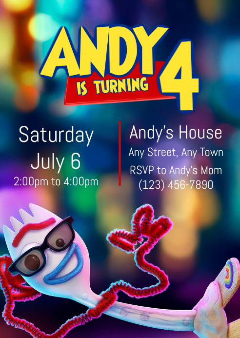 Toy Story 4 Party Invitation 01