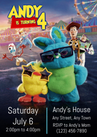 Toy Story 4 Party Invitation 04