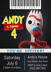 Toy Story 4 Party Invitation 05