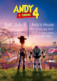 Toy Story 4 Party Invitation 06