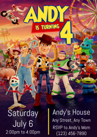 Toy Story 4 Party Invitation 09 Woody Forky
