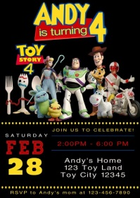 Toy Story 4 Party Video Animated Invitation 13