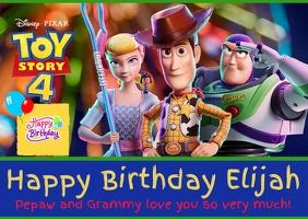 Toy Story Birthday Card Открытка template