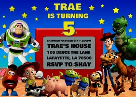 TOY STORY BIRTHDAY INVITATION POSTCARD
