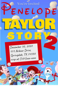 Toy Story Invitation Poster template