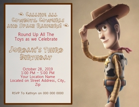Toy Story Kids Birthday Invitation Template