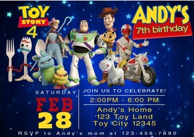 Toy Story Party 4 Video Invitation Forky 14