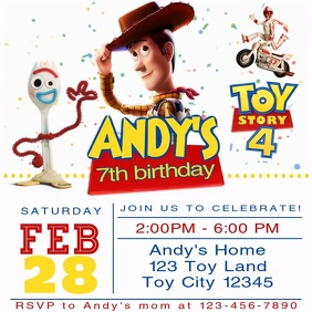 Toy Story Party Video Animated Invitation 11