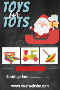 Toys for Tots Christmas Poster Flyer Announcement Invitation
