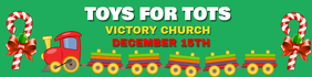 TOYS FOR TOTS Banner 2' × 8' template