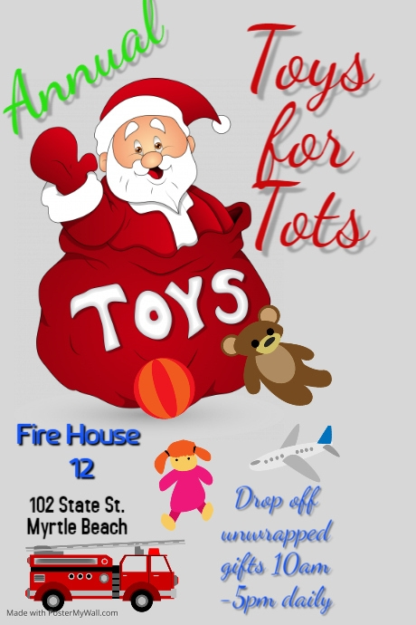 Toys For Tots Flyers Editable : Toys for tots template postermywall
