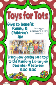 toys for tots toy drive food drive christmas event flyer