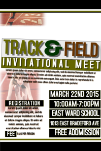 60 customizable design templates for track and field postermywall