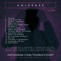 Tracklist Anonymous Universe CD Cover Music Capa de álbum template