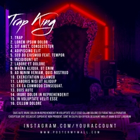 Tracklist Trap King Throne Mixtape CD Cover template