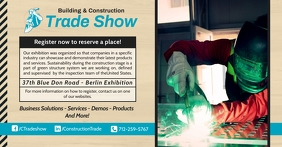 Trade Show Advertisement Banner Facebook Shared Image template