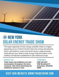 Trade Show Renewable Energy Poster