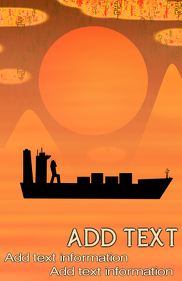 trading ship with containers - logistics and african dessert look