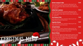 Traditional Christmas Digital Signage Menu
